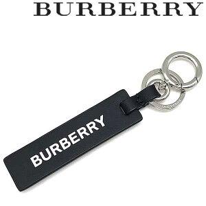 BURBERRY キーホルダー バーバリー メンズ&レディース タグチャーム レザー キーリング ブラック 8018495-BLACK ブランド キーケース