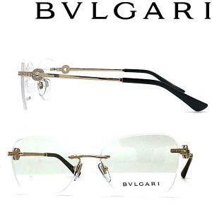 BVLGARI メガネフレーム ブルガリ メンズ&レディース ゴールド 縁無し 2pt 0BV-2216B-2014 ブランド