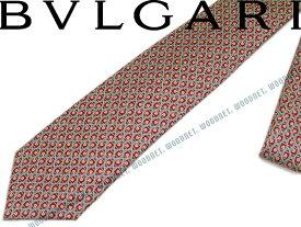 BVLGARI ブルガリ ネクタイ 242192 ルビーレッド 「DIVA COMPASS」 シルクブランド/メンズ/男性用