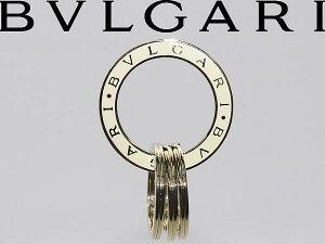BVLGARI キーリング ホワイト×シャンパンゴールド ブルガリ 35277 ブランド/メンズ&レディース