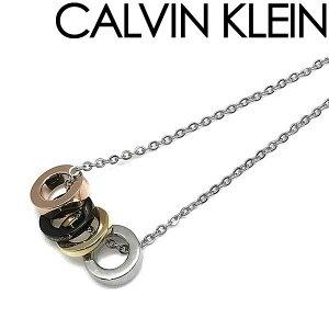 CALVIN KLEIN ネックレス カルバンクライン メンズ&レディース シルバー リング型チャーム KJ7GBN400100 ブランド