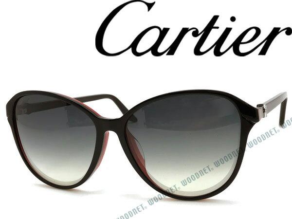 Cartier カルティエ サングラス グラデーションブラック AMY-ESW00102 ブランド/レディース/女性用/紫外線UVカットレンズ/ドライブ/釣り/アウトドア/おしゃれ