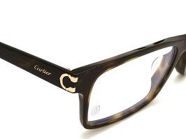 Cartierメガネフレームカルティエメンズ&レディースダークマーブルブラウン眼鏡CT-0005OA-002