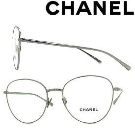 CHANEL メガネフレーム シャネル レディース ガンメタルシルバー 眼鏡 0CH-2192-C108 ブランド