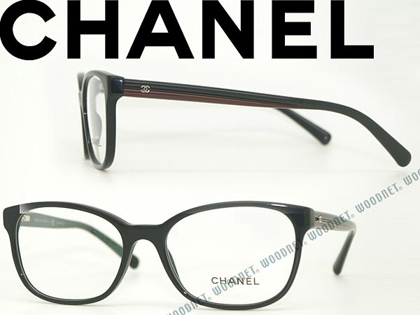 CHANEL シャネル メガネフレーム 眼鏡 めがね ブラック 0CH-3313-1248 ブランド/レディース/女性用/度付き・伊達・老眼鏡・カラー・パソコン用PCメガネレンズ交換対応