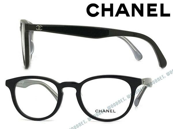 CHANEL メガネフレーム シャネル レディース ブラック 眼鏡 0CH-3364A-1607 ブランド