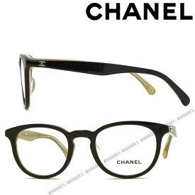 CHANEL メガネフレーム シャネル レディース 眼鏡 ブラック×クリア×ゴールド 0CH-3364A-1609 ブランド