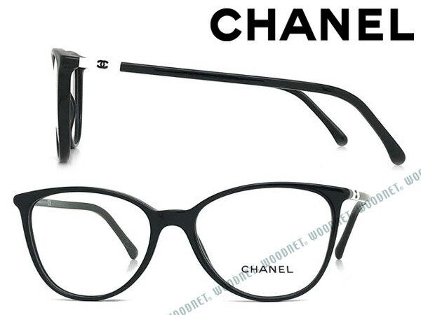 CHANEL メガネフレーム シャネル レディース ブラック 眼鏡 0CH-3373-1026 ブランド