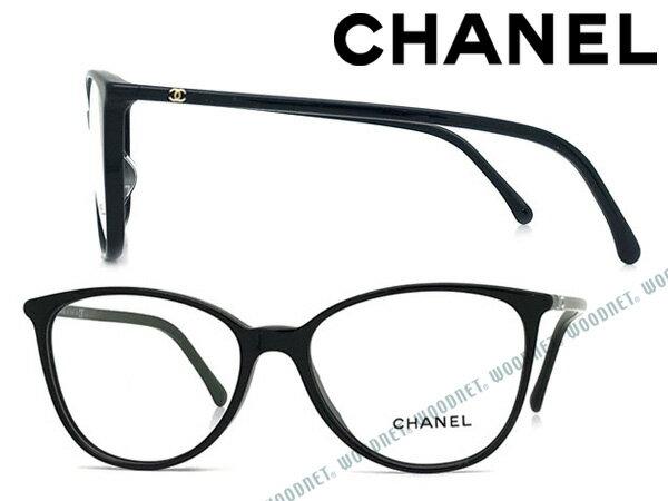 CHANEL メガネフレーム シャネル レディース ブラック 眼鏡 0CH-3373A-C501 ブランド