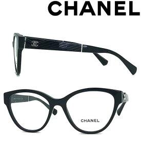 CHANEL メガネフレーム シャネル レディース ブラック 眼鏡 0CH-3391-C501 ブランド