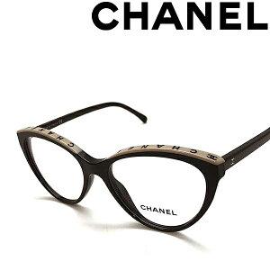 CHANEL メガネフレーム シャネル メンズ&レディース ブラック×ベージュ 眼鏡 0CH-3393-C534 ブランド