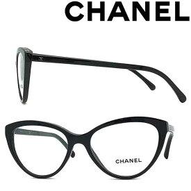 CHANEL メガネフレーム シャネル レディース ブラック 眼鏡 0CH-3393-C622 ブランド
