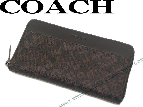 COACH コーチ 長財布 ジップアラウンド 型押しレザー 小銭入れあり シグネチャーロゴ柄 マホガニー×ブラウン 74936-MAH ブランド/メンズ/レディース/男性用/女性用