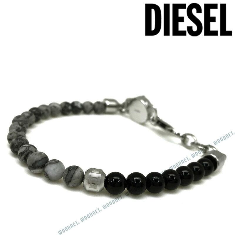 DIESEL ブレスレット ディーゼル メンズ&レディース グレー×ブラック DX1061040 ブランド
