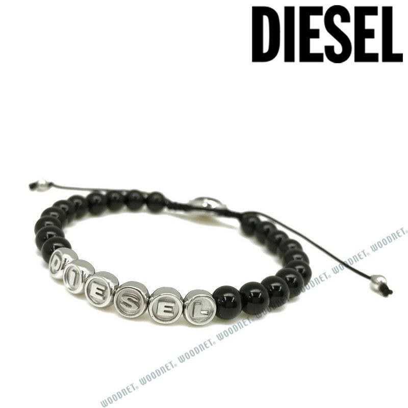 DIESEL ブレスレット ディーゼル メンズ&レディース ブラック×シルバー DX1088040 ブランド