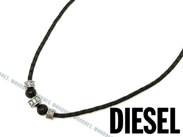 DIESEL ネックレス ディーゼル メンズ&レディース ブラック×シルバー DX1107040 ブランド/チョーカー/ペンダント