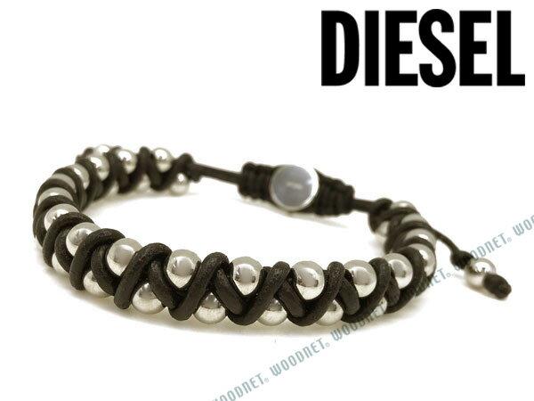 DIESEL ブレスレット ディーゼル メンズ&レディース ブラック×シルバー ブレスレット DX1109040 ブランド