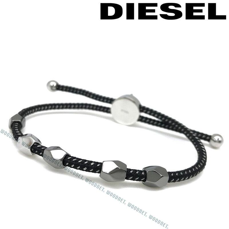 DIESEL ブレスレット ディーゼル メンズ&レディース ブラック×シルバー DX1139040