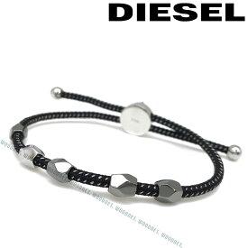 DIESEL ブレスレット ディーゼル メンズ&レディース ブラック×シルバー DX1139040 ブランド