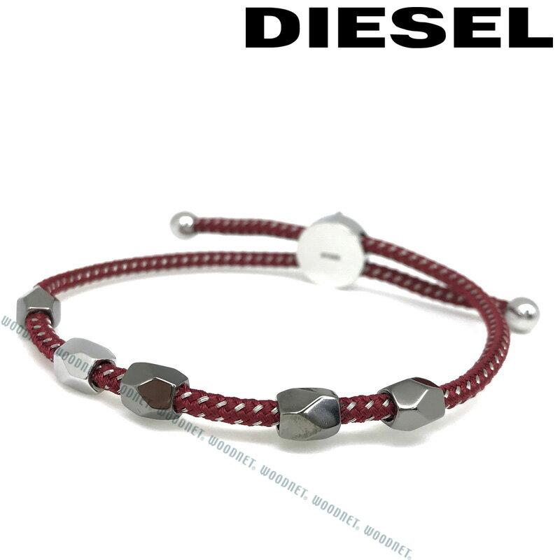 DIESEL ブレスレット ディーゼル メンズ&レディース レッド×シルバー DX1141040