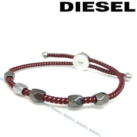 DIESEL ブレスレット ディーゼル メンズ&レディース レッド×シルバー DX1141040 ブランド