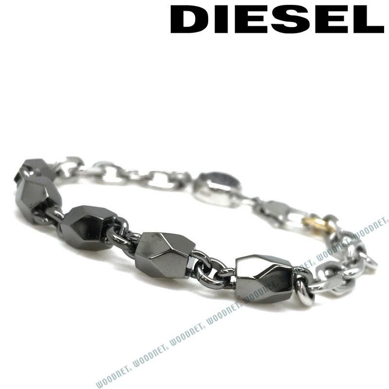DIESEL ブレスレット ディーゼル メンズ&レディース シルバー×ガンメタルシルバー ブレスレット DX1142040