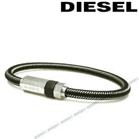 DIESEL ブレスレット ディーゼル メンズ&レディース ブラック×シルバー ブレスレット DX1152040 ブランド