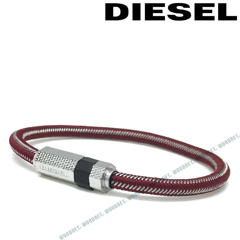DIESEL ブレスレット ディーゼル メンズ&レディース レッド×シルバー ブレスレット DX1153040