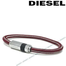 DIESEL ブレスレット ディーゼル メンズ&レディース レッド×シルバー ブレスレット DX1153040 ブランド