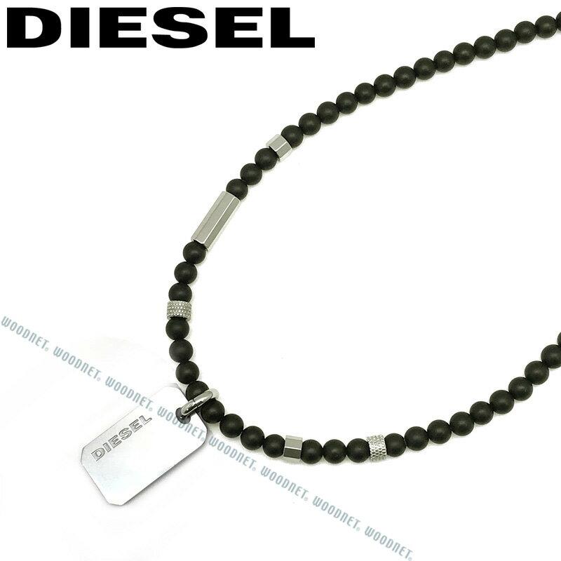 DIESEL ネックレス ディーゼル メンズ&レディース プレート マットブラック×シルバー ネックレス DX1157040