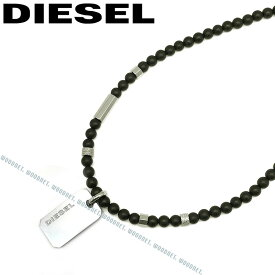 DIESEL ネックレス ディーゼル メンズ&レディース プレート マットブラック×シルバー ネックレス DX1157040 ブランド