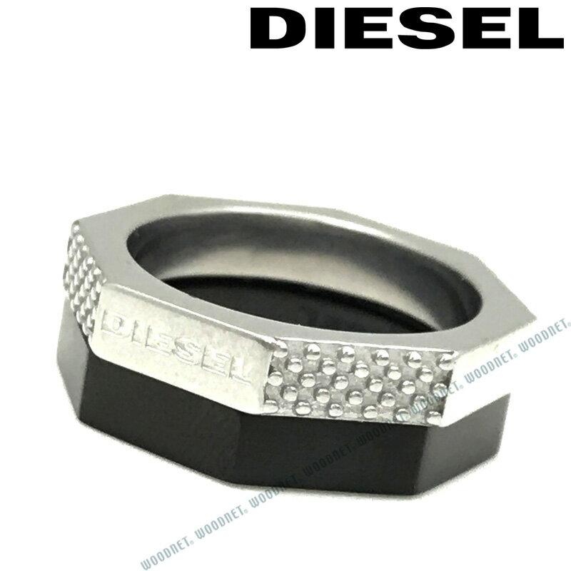 DIESEL 指輪 リング ディーゼル メンズ&レディース シルバー×ブラック ダブル DX1158040
