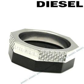 DIESEL 指輪 リング ディーゼル メンズ&レディース シルバー×ブラック ダブル DX1158040 ブランド