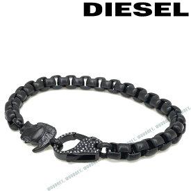 DIESEL ブレスレット ディーゼル メンズ&レディース ブラック ブレスレット DX1159001 ブランド