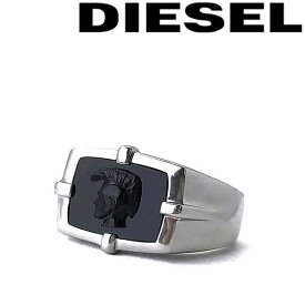 DIESEL 指輪 リング ディーゼル メンズ&レディース シルバー×ブラック DX1175040 ブランド
