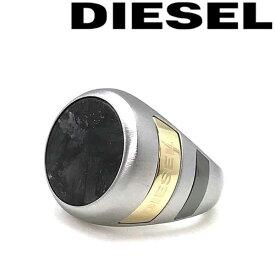 DIESEL 指輪 リング ディーゼル メンズ&レディース シルバー×ブラック DX1190040 ブランド