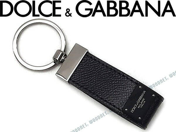 DOLCE&GABBANA キーホルダー ドルチェ&ガッバーナ 型押しレザー リングブラック ドルガバ BP1371-AI359-8B956 ブランド/メンズ&レディース/男性用&女性用