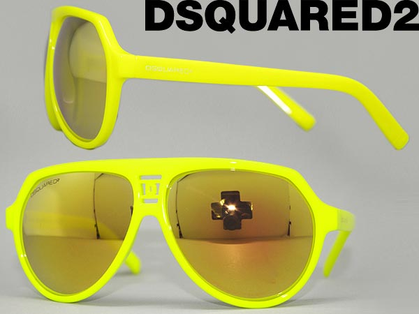 ディースクエアード DSQUARED2 サングラス イエローミラーブラック ティアドロップ 0DQ-0093-41L ブランド/メンズ&レディース/男性用&女性用/紫外線UVカットレンズ/ドライブ/釣り/アウトドア/おしゃれ