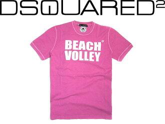 디스크에아드 반소매 T셔츠 DSQUARED2 BEACH VOLLEY 핑크 GC591-20694-055 브랜드/맨즈/남성용