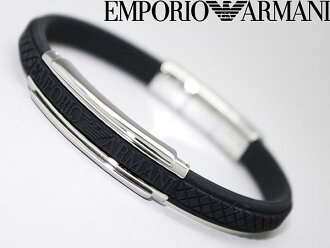 EMPORIO ARMANI bracelet ロゴブラック rubber Emporio Armani EGS1426040 WN0041 branded/mens & ladies / men & women