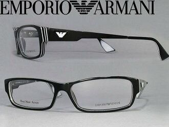 메가네후레임엔포리오아르마니 EMPORIO ARMANI 안경 안경 블랙×화이트 EMP-EA-9653-LI1 브랜드/맨즈&레이디스/남성용&여성용/도 첨부・다테・돋보기・칼라・PC용 PC안경 렌즈 교환 대응