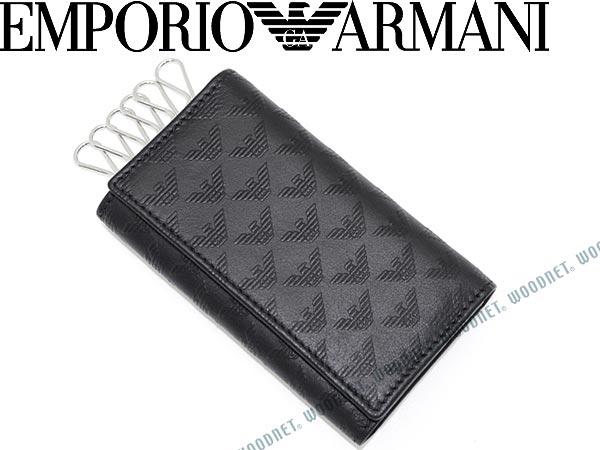 キーケース エンポリオアルマーニ ブラック EMPORIO ARMANI キーホルダー アクセサリー YEMG68-YC043-80001 キーリング ブランド/メンズ&レディース/男性用&女性用