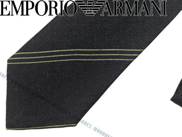 EMPORIO ARMANI エンポリオアルマーニ シルク ネクタイ ネイビー×グリーン 340049-7A502-00035 ブランド/メンズ/男性用