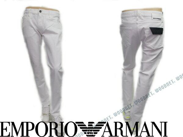 エンポリオアルマーニ ストレッチデニムパンツ Slim Fit ホワイト EMPORIO ARMANI ジーンズ ボトムス 3Y1J08-1N07Z-0101 ブランド/メンズ/男性用