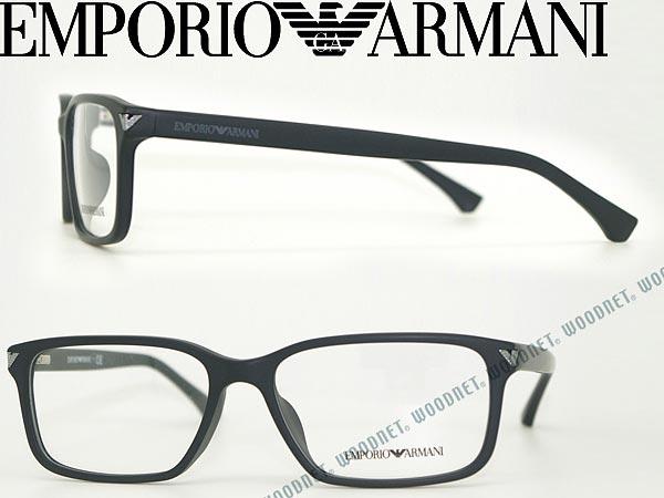 メガネフレーム エンポリオアルマーニ マットブラック EMPORIO ARMANI 眼鏡 めがね EA3072F-5042 ブランド/メンズ&レディース/男性用&女性用/度付き・伊達・老眼鏡・カラー・パソコン用PCメガネレンズ交換対応