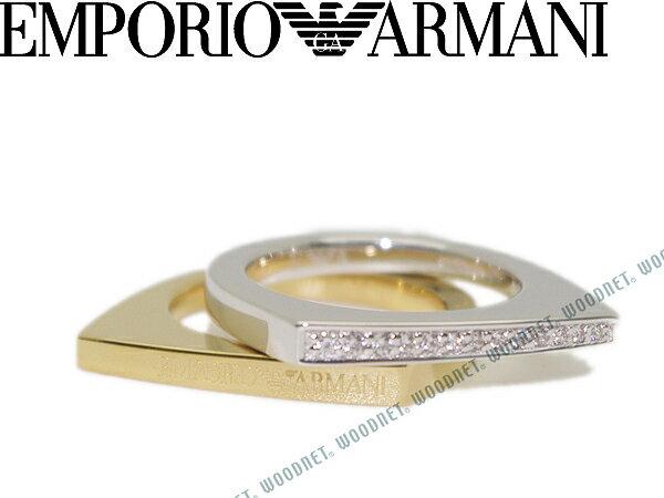 EMPORIO ARMANI シルバー×ゴールド 2連リング・指輪 エンポリオアルマーニ アクセサリー EG3325040 ブランド/メンズ&レディース/男性用&女性用