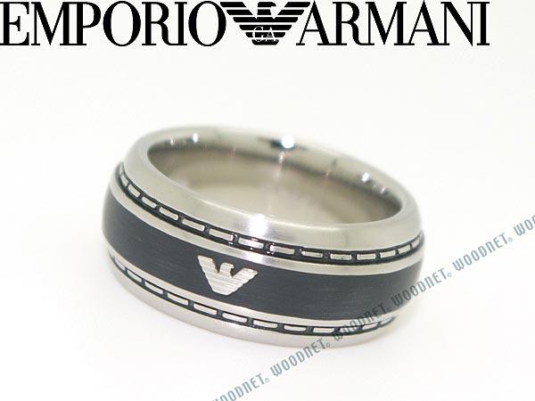 EMPORIO ARMANI リング・指輪 マットシルバー×マットブラック エンポリオアルマーニ アクセサリー EGS1924040 ブランド/メンズ&レディース/男性用&女性用