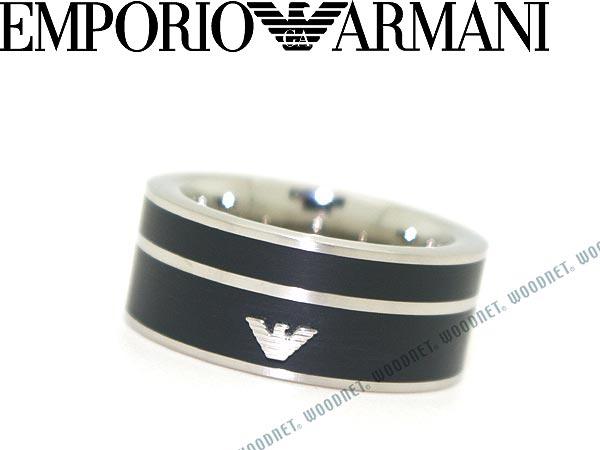 EMPORIO ARMANI マットシルバー×マットブラック リング・指輪 エンポリオアルマーニ アクセサリー EGS2032040 ブランド/メンズ&レディース/男性用&女性用