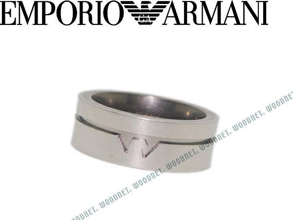 EMPORIO ARMANI エンポリオアルマーニ リング・指輪 メンズ&レディース シルバー×ガンメタル EGS2303040