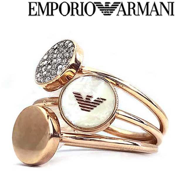 EMPORIO ARMANI ピンクゴールド 3連リング・指輪 エンポリオアルマーニ アクセサリー EGS2310221 ブランド/メンズ&レディース/男性用&女性用